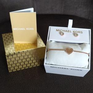 Michael Kors Rose🌹 Gold💛 Heritage Heart Set NIB